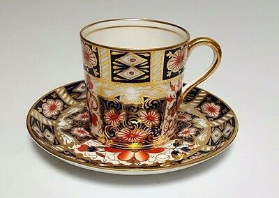 AYNSLEY IMARI Espresso DEMITASSE CUP & SAUCER GOLD # 5500 Rare Royal Crown Derby