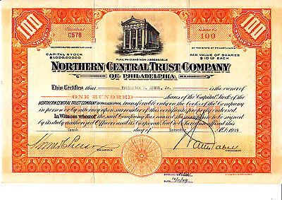 Northern Central Trust Co Phil 1929 Stock -