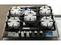 b104 stainless steel beko 5 burner gas hob new graded with 12 month warranty can be delivered