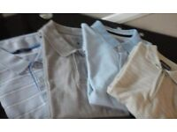 4 BRAND NEW POLO T. SHIRTS.