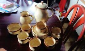 prinknash coffee pottery set