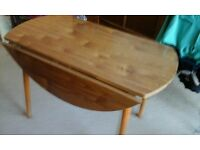 FORMICA TABLE. {oblong or round}