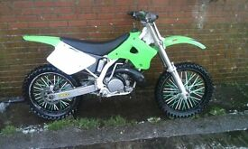 kawasaki kx 250 1997 fresh crank smooth fast bike (not cr rm yz ktm )