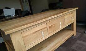 Oak Furniture Land Rivermead 6 Draw Coffee Table