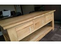 Oak Furniture Land Rivermead 6 Draw Coffee Table