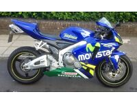 2006 Honda CBR600RR-6, very low miles and px GSXR, either way.