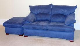 Twin sofa and matching Ottoman (pouffe), quality, VGC