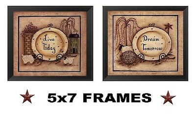 💗 Primitive Bathroom Pictures 5x7 Live Today Dream Bath Wall Hanging Home - Bathroom Wall Hanging