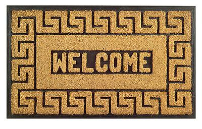 Key Door Mat - DOOR MATS - GREEK KEY RUBBER BACK COIR WELCOME MAT - 18