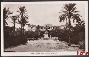 SUDAN THE PALACE & STATUE OF GENERAL GORDON  PHOTO CARD