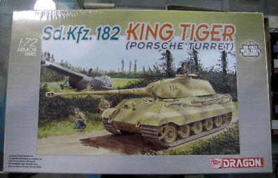 Dragon 1/72 KING TIGER w/Porsche Turret 7231