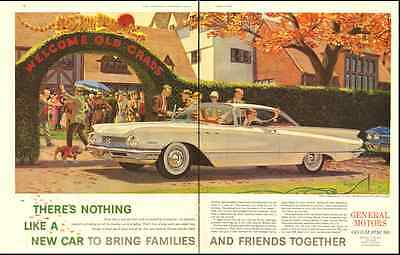"1959 vintage General Motors Automobile ad ""go GM for 60!' for -083112"