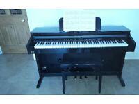 Diginova Concerto digital piano High Gloss Black - elegant looks and high specs.