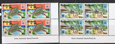KIRIBATI 1983 COMMONWEALTH DAY - BLOCKS OF 4