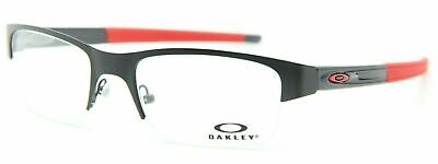 NEW OAKLEY OX3226-0153 SATIN BLACK RED CROSSLINK EYEGLASSES AUTHENTIC RX 53-19