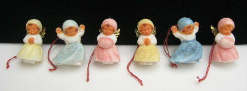 Vintage W Germany Snowbaby Angel Feather Tree Christmas Ornaments
