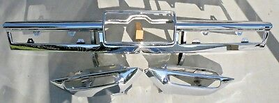 X CADILLAC NEW TRIPLE PLATED CHROME REAR BACK BUMPER IMPACT BAR 1966 66 OEM