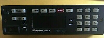 Motorola Astro Control Head With Keypad For Police Motorcycle