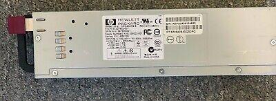 Lot of 2 Hewlett Packard DPS-600PB B AC Server Hot Swap Power Supply 321632-501