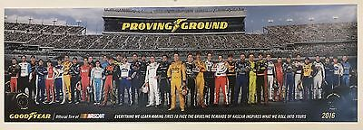 Official 2016 Nascar Drivers Poster Goodyear Danica Patrick Dale Jr Busch