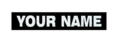 "NAME TAPE REFL SOLAS AND BLACK PATCH 5.25""X1"" CUSTOM WITH VELCRO® BRAND FASTENER"