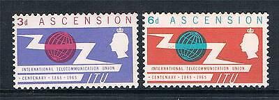 Ascension 1965 ITU Centenary SG 87/8 MNH