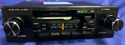 Mitsubishi RX-755, Vintage AM/FM Indash Cassette-Auto/Reverse-MPS-New-Old Stock