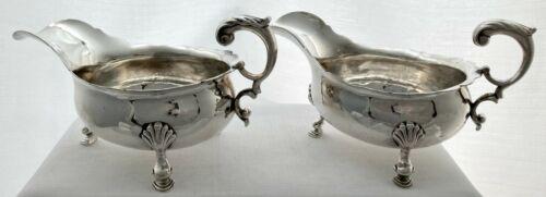 Georgian, George II, Pair of Silver Sauce Boats. London 1739 - 1755, Henry Brind