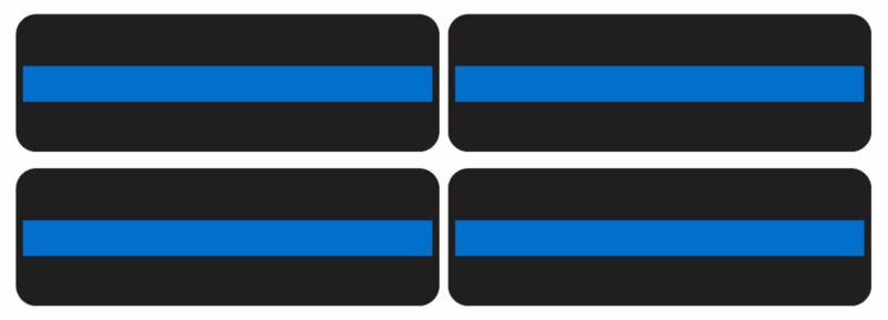 "4PCS* 1""X3"" BLUE LIVES MATTER HELMET THIN BLUE LINE STICKER POLICE DECAL BUMPER"