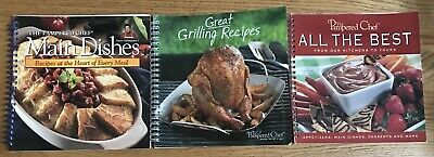 LOT PAMPERED CHEF COOKBOOKS GREAT GRILLING RECIPES ALL THE BEST MAIN