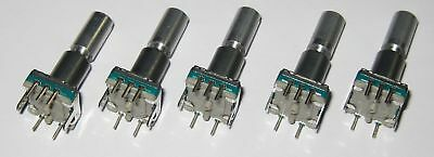 5pcs Alps Rotary Encoder W Momentary Switch 30 Detent360 Degrees Pc Board New