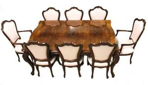 Stunning KARGES Furniture Venetian Dining Room Table Set w/ 3 Leaves & 8 CHAIRS!