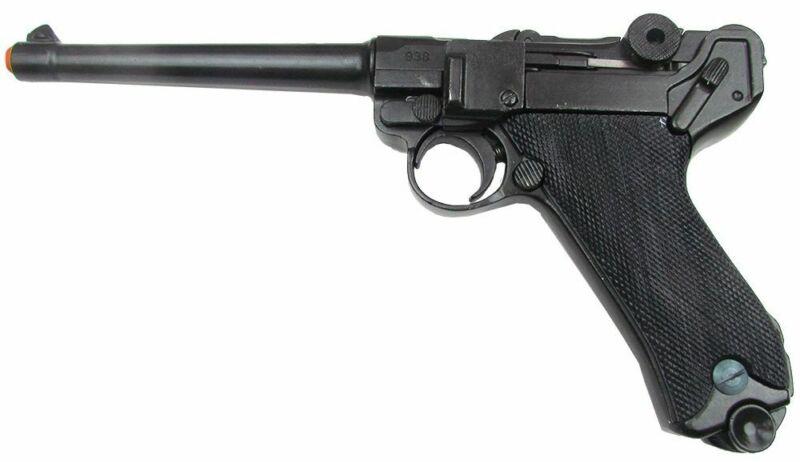 Denix WWII German Naval Luger P-08 Replica Pistol - Black Grips