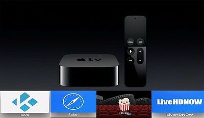 Brand New Apple Tv 4 4Th Generation Untethered Popcorn Time Movies Tv Ppv  32Gb