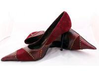 Faith Solo El Dante Augergine Studded Shoes (6.5) Rrp £125