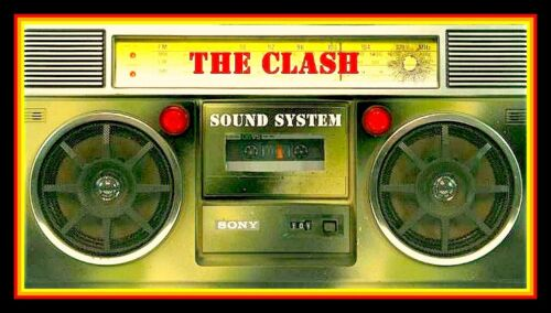 "5"" The CLASH Boom Box gloss vinyl sticker Sound System punk rock decal for car"