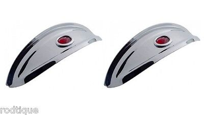 """2 Visors For 7"""" Round Headlight Head Lamp Stainless Steel Red Dot Two Included"""