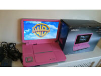 """PINK Bush 10"""" Portable DVD Player with Gadged Bag"""