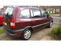 2003 53plate Vauxhall Zafira 1.8 ecotec, 5 speed manual, 7 seater, new MOT