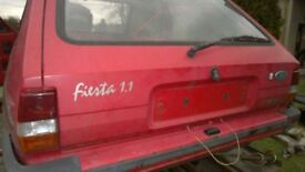 Ford Fiesta mk2 tailgate boot lid mk1 xr2 red