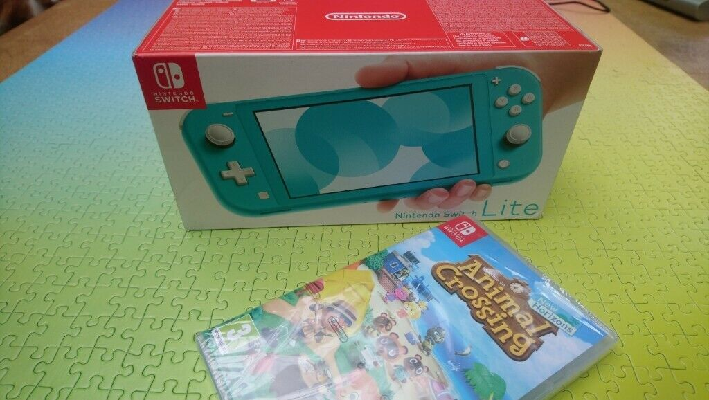 New Turquoise Nintendo Switch Lite & Animal Crossing game ...