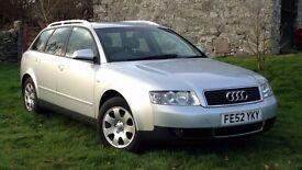 2002| Audi A4 Avant | 130BHP 1.9 TDI |Silver |5 Door |5 Spd Manual | 146677 | FSH |1 Previous Owner