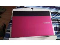 Pink Samsung laptop