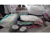Baby clothes 0-3-6months ,nappies size 1-2