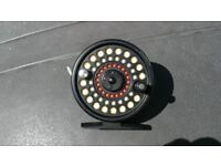 GREYS fly fishing reel with a cortland 444 floating line 4 rated