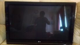 LG 42 INCH HD PLASMA TV FOR SALE AS SPARES OR REPAIR