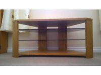 Optimum Edge 1000 Open TV Stand (Natural Oak) - Excellent Condition