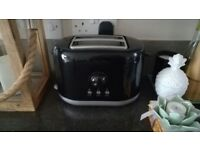 Black silver toaster