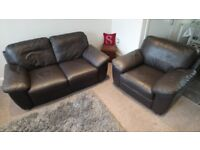 Handmade Italian Leather 2 Seater Sofa and Chair **Excellent Condition**Premium quality**