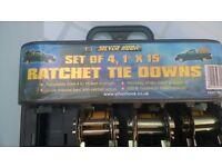 SET OF 3 RATCHET TIE DOWNS